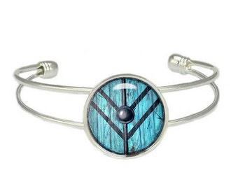 Vikings Lagertha Shield Cuff Bangle Bracelet Fandom Jewelry Shield Maiden Fangirl Fanboy
