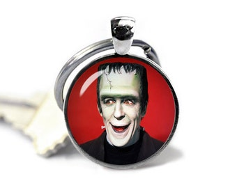 Herman Munster Keychain Key Ring Fandom Munsters Keyfob Fandom Jewelry Cosplay Fangirl Fanboy