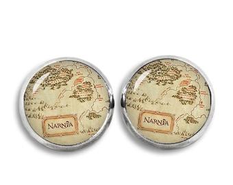 Narnia Map Stud Earrings Narnia Earrings Book Lovers Fangirl Fanboy