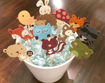 Woodland Creatures Cupcake Toppers
