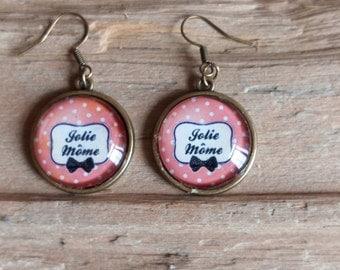 """""""Jolie kid"""" cabochons earrings"""