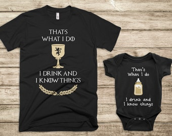 Dad and Baby Matching Shirts, Fathers Day Matching Shirts, Father Son Matching Shirts, Game of Thrones Shirts, Game of Thrones Fathers Day