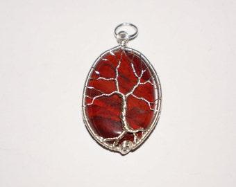 Red Jasper Tree of Life Pendant