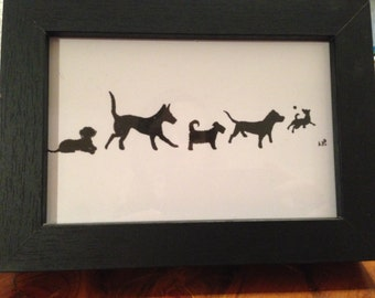 Rescue dogs framed print