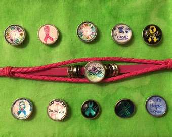 New Pink Cancer Bracelet for women and teens