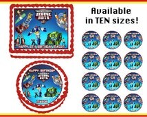 Transformers Rescue Bots Edible  Birthday Cake Cupcake Cookie Topper Party Decoration Icing Sheets
