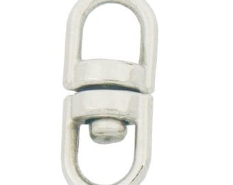 100 Pcs Swivel Key ring Connectors Double Ended Clasp Clip 360 Degress 13x6mm 16x7mm
