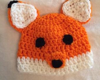 Fox hat, Animal beanies, animal hats, horse hat, fox hat, child hat, birthday gift, baby hat