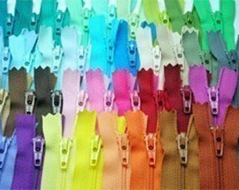 24 pieces of assorted color Zipper - 4 inch zippers , DIY zip Supply