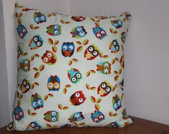 Handmade Cream Owl Cushion