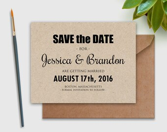 Wedding Printable Invitation Save-the-Date Postcard, Save the Date Postcard, Save the Date Card, DIY INSTANT DownLoad Editable for print