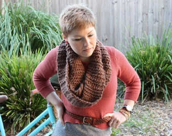 Infinity scarf, extra long rustic style.