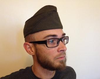 Vintage U.S. Military Uniform Garrison Hat Size 6 7/8