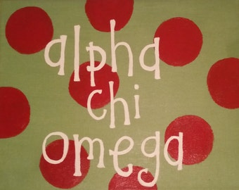 Custom Sorority Poke-a-Dot Patterned Canvas