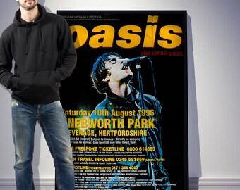 Original Oasis Knebworth huge promo poster Noel Gallagher