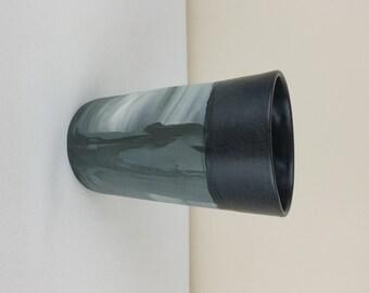 Marbled ceramic tumbler.