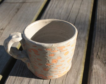 Hand-made Textured Ceramic Mug