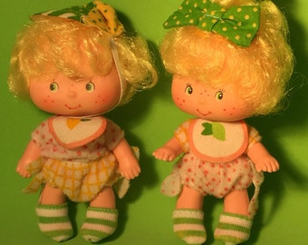 """Vintage Lem N' Ada Twins from 1983 from """"Strawberry Shortcake"""" series"""