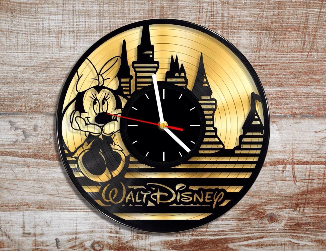 Walt disney vinyl record wall clock gold record minnie zoom amipublicfo Choice Image