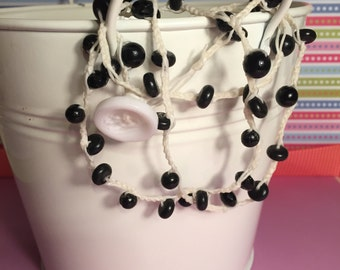 Black and White Wrap Around Bracelet