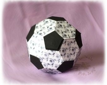 Gift packaging, box, soccer, school, birthday, boy, handmade,