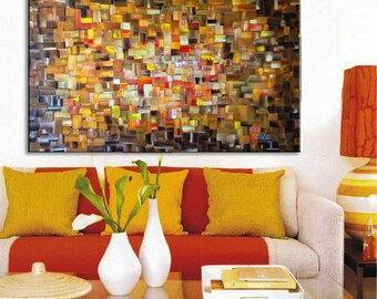 Original Oil Painting Abstract Art On Canvas