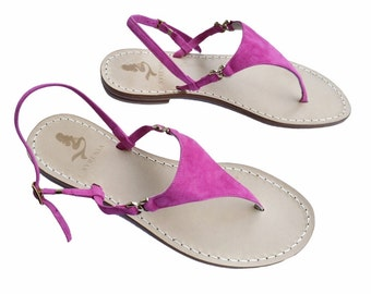 POSITANO STYLE | 100% Handmade Leather thong Sandals handmade in Italy