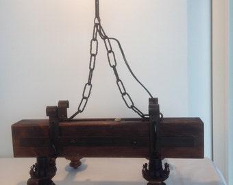 Antique lamp 4-light Chandelier