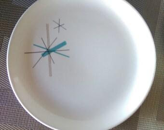 "VINTAGE * RETRO * ATOMIC * Salem in North Star / Hopscotch Pattern Salad Plate (7 1/4"") 1962"