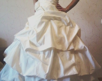 1. A wedding dress, champagne, Avery, elegant, Princess, свадебное платье, шампань, эйвори, элегантно, принцесса