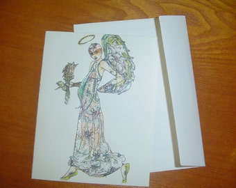 Angel Greeting Card-Last One!