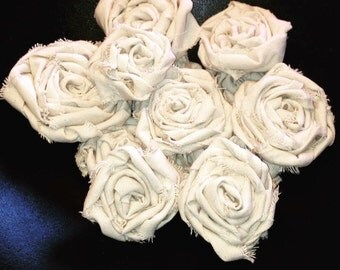 Duck Cloth Roses