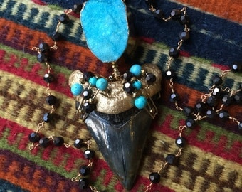 Megalodon Tooth Fossil Necklace