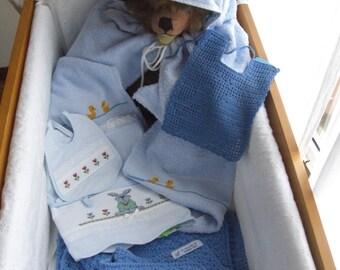 layette baby blue sleeping bag
