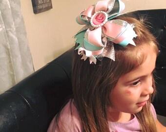 Hair Bow 6 inches - Custom made.