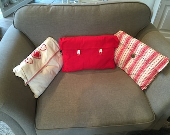 Set of three cushion