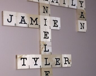 Large Scrabble Tiles for Wall