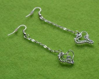 Wire Wrapped Heart Earring