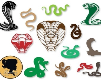 Snakes Silhouette, Cobra svg, animals SVG, DXF, EPS, jpg, png, cutting files, for use with Silhouette Studio and Cricut
