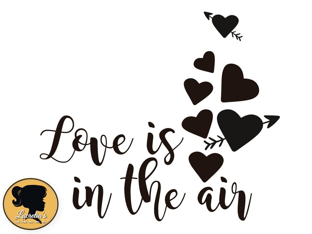 Download Love is in the air silhouette Heart Silhouette Love svg
