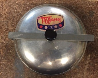 Mid Century Vintage Tiffany steel pudding pot / Retro Pudding Pot