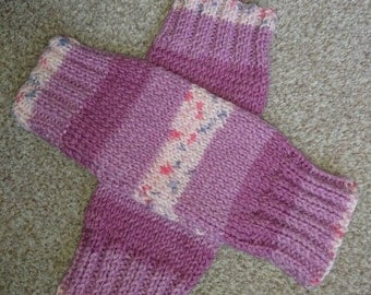 Cosy hand knitted wrist warmers