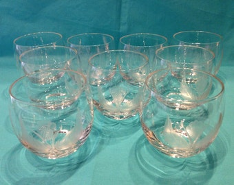 Etched Roly Poly glasses