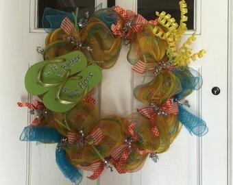 Flip flop summer wreath.