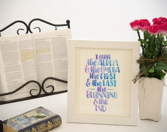Hand Lettered Bible Verse