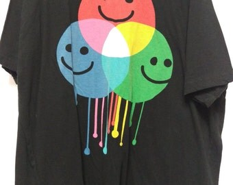 90's smiley face paintball shirt