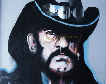 LEMMY (MOTORHEAD) Original Oil Portrait Painting 2016