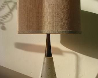Mid Century Atomic Starburst Retro Table Lamp w/ Lamp Shade