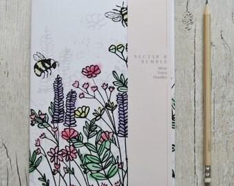 Wildflower Meadow Bee Notebook