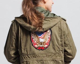 jacket EAGLE vintage PARKA DEKLEKT military